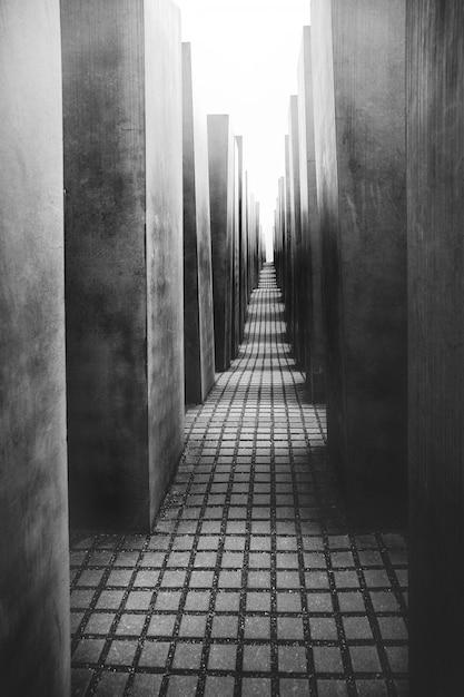 Het monument voor de vermoorde joden van europa in berlijn Premium Foto
