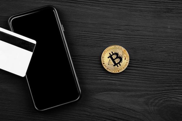Het overboeken van de dollar van de portemonnee naar bitcoin Premium Foto