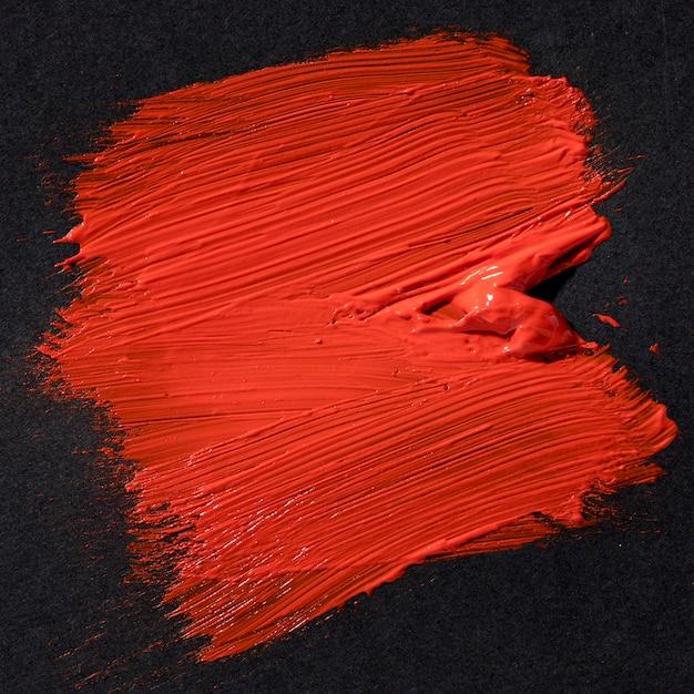 Het rode abstracte art. van de borstelslag Premium Foto