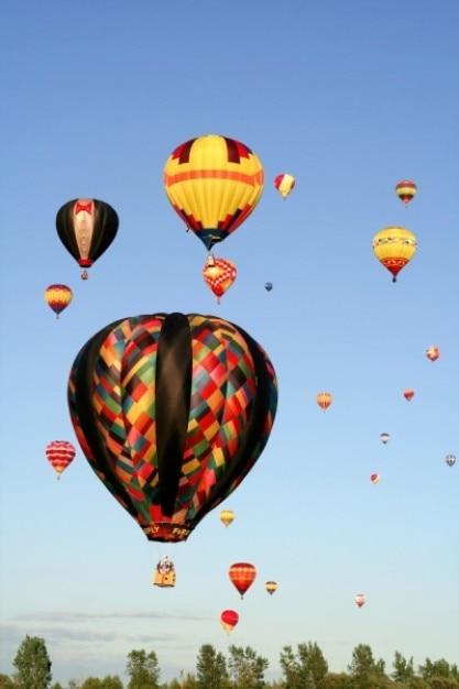 Heteluchtballonnen Gratis Foto