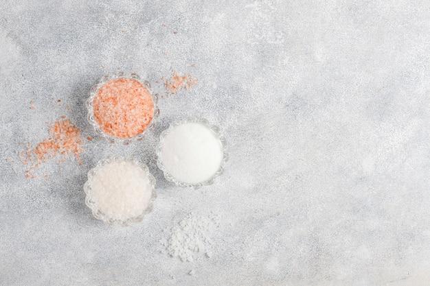 Himalaya roze zout, bovenaanzicht Gratis Foto