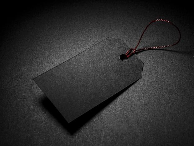 Hoge weergave zwarte kopie ruimte prijskaartje Premium Foto