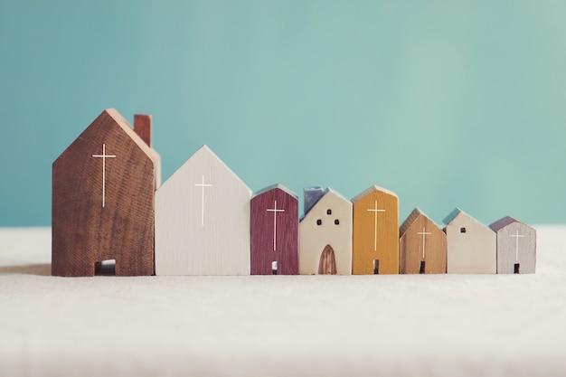 Home kerkgemeenschap, samen aanbidden thuis Premium Foto