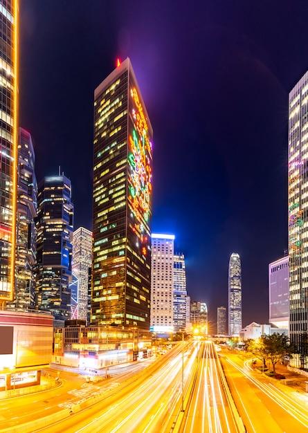 Hong kong cityscape Premium Foto