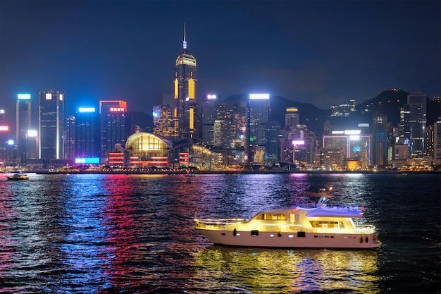 Hong kong skyline. hong kong, china Premium Foto
