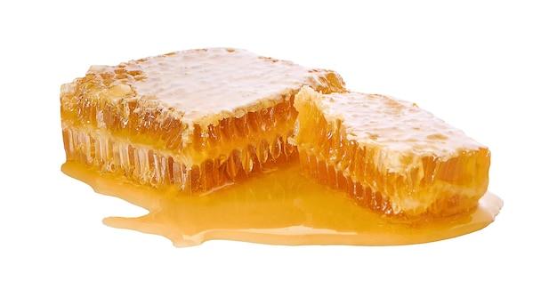 Honing geïsoleerd op een wit oppervlak Premium Foto