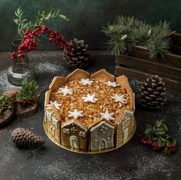 Honingcake op de tafel Gratis Foto