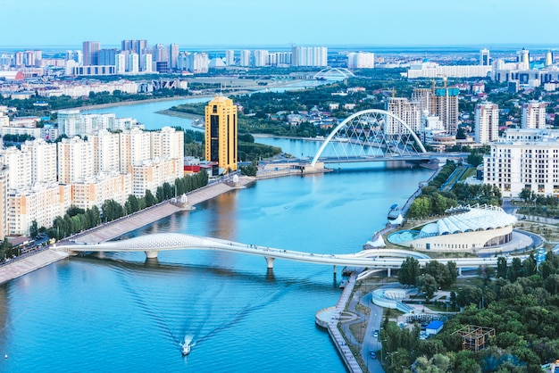 Hoofdstad van astana-landschap in kazachstan Premium Foto