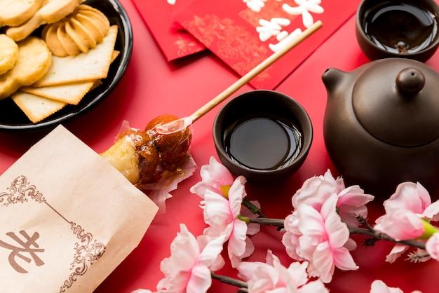 Hoogste mening chinese nieuwe jaarsamenstelling Gratis Foto