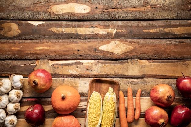 Hoogste meningsvoedselkader met vruchten en groenten Gratis Foto