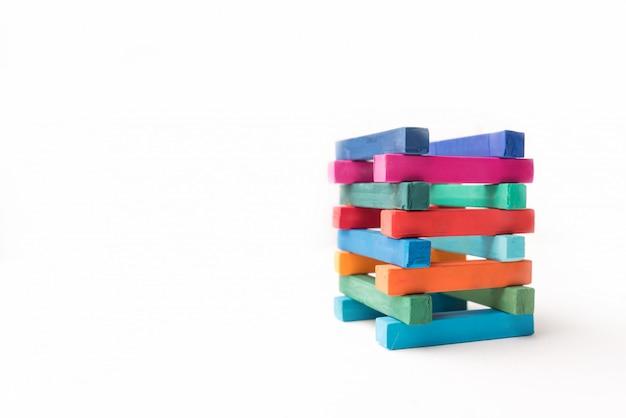 Hoogte kleurrijke krijttoren Gratis Foto