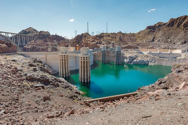 Hoover dam in nevada en arizona Premium Foto