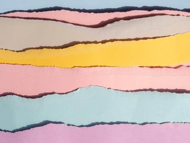 Horizontale gescheurde abstracte papierlijnen Gratis Foto