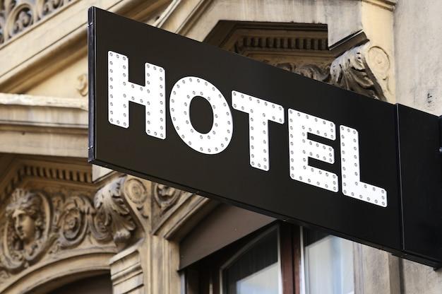 Hotel teken Premium Foto