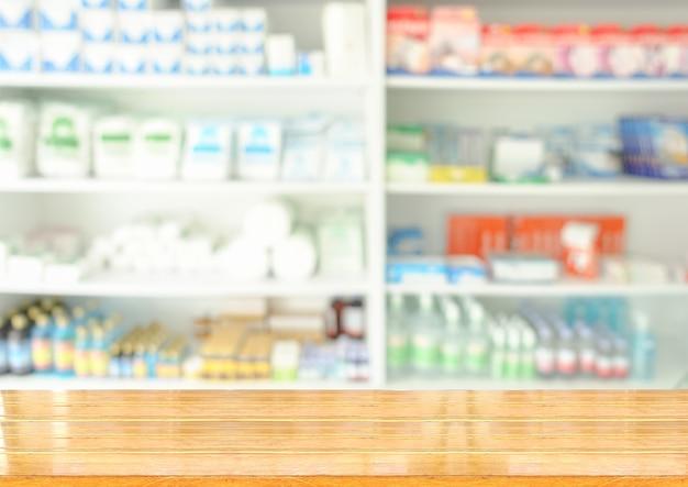 Houten drogisterij Premium Foto