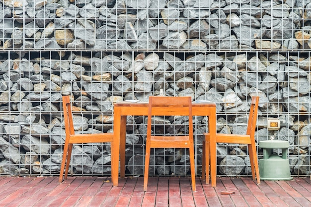 Houten eettafel en stoel decoratie interieur Gratis Foto