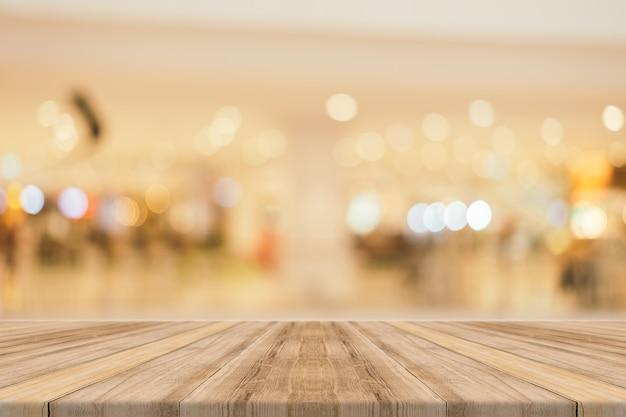 Houten planken met glanzende achtergrond Gratis Foto