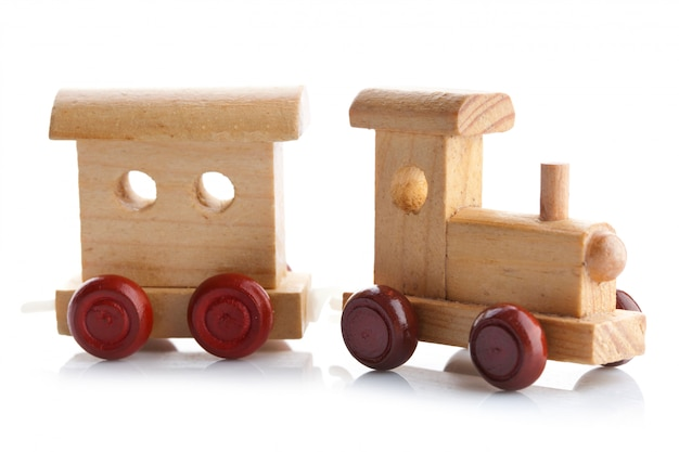 Houten speelgoedtrein Premium Foto