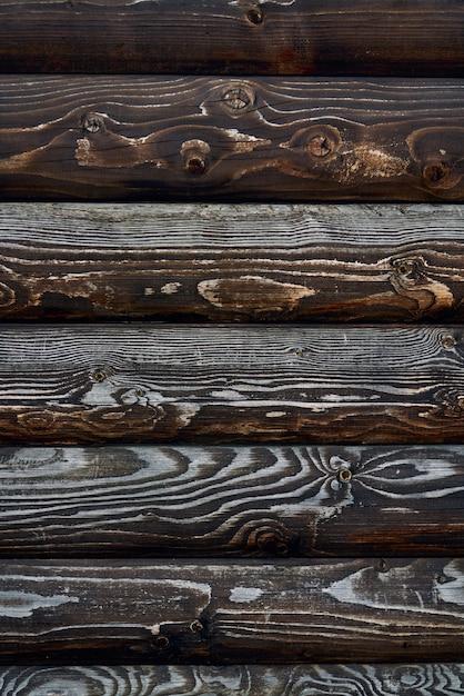 Houten textuur van donkerbruine planken. Gratis Foto