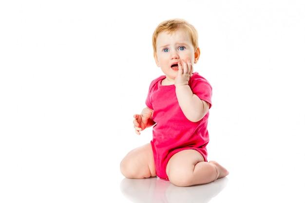 Huilend babymeisje Premium Foto