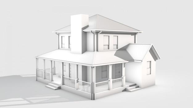 Huis 3d render Premium Foto