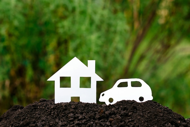 Huis en auto Premium Foto