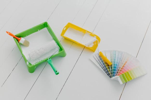 Hulpmiddelen om huis te repareren en te verbouwen. Premium Foto
