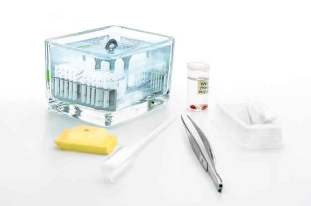 Hulpmiddelen voor histochemische analyse van patiëntenweefsel Premium Foto