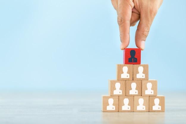 Human resource management en recruitment bedrijfsconcept Premium Foto