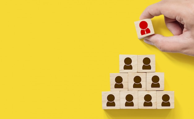 Human resource management en rekrutering Premium Foto