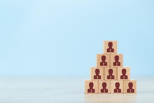 Human resource management en werving bedrijfsconcept Premium Foto