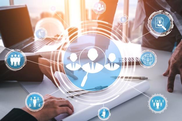 Human resources en mensen netwerkconcept Premium Foto