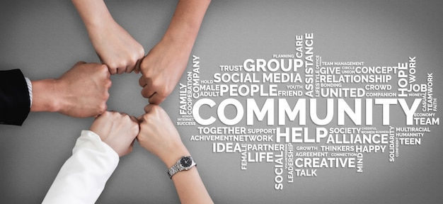 Human resources en people networking Premium Foto