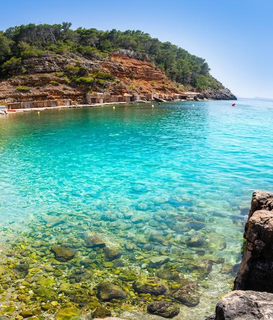 Ibiza cala salada en saladeta in balearen Premium Foto