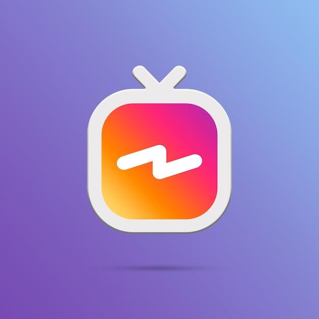 Igtv instagram pictogram 3d Premium Foto