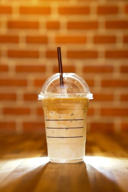 Ijs latte met koffie Premium Foto