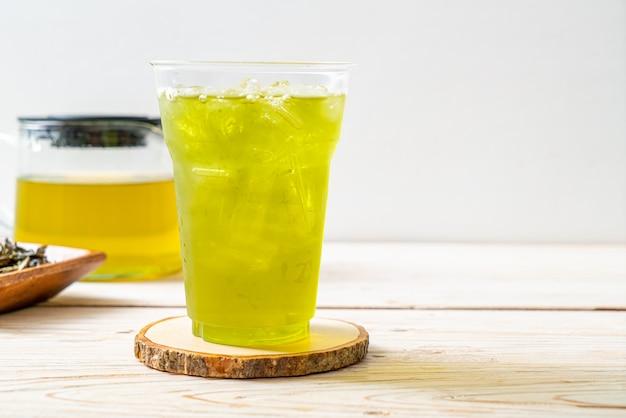 Ijsthee japanse groene thee Premium Foto
