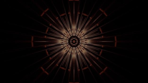 Illustratie van een cirkel met abstracte neonlichteffecten - ideaal voor een futuristische achtergrond Gratis Foto