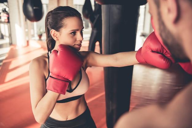 In de sportschool Premium Foto