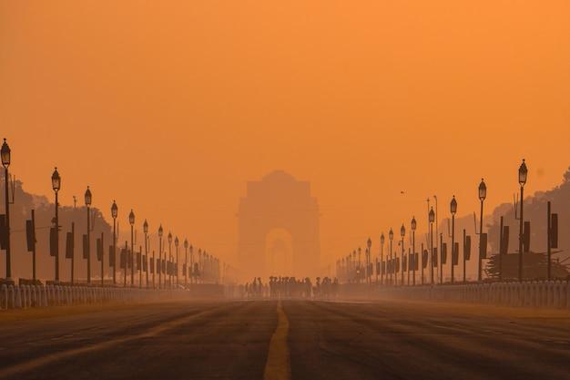 India gate-ochtenden. Gratis Foto