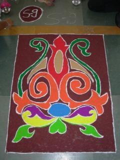 Indian rangoli diwali, traditionele Gratis Foto