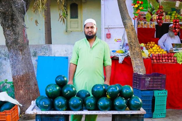 Indiase groentemarkt Premium Foto
