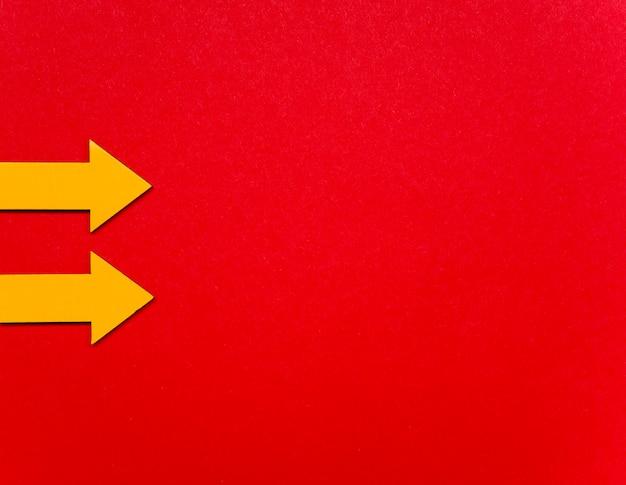 Indicator pijlen bovenaanzicht Gratis Foto