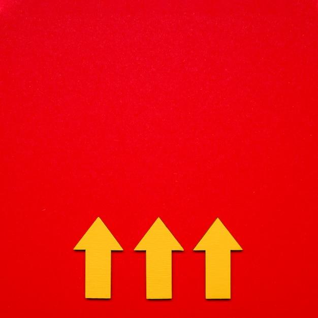 Indicator voor kopieerruimte-pijlen Gratis Foto