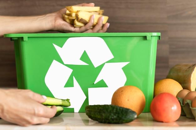 Individuele recycling van biologische groenten Gratis Foto
