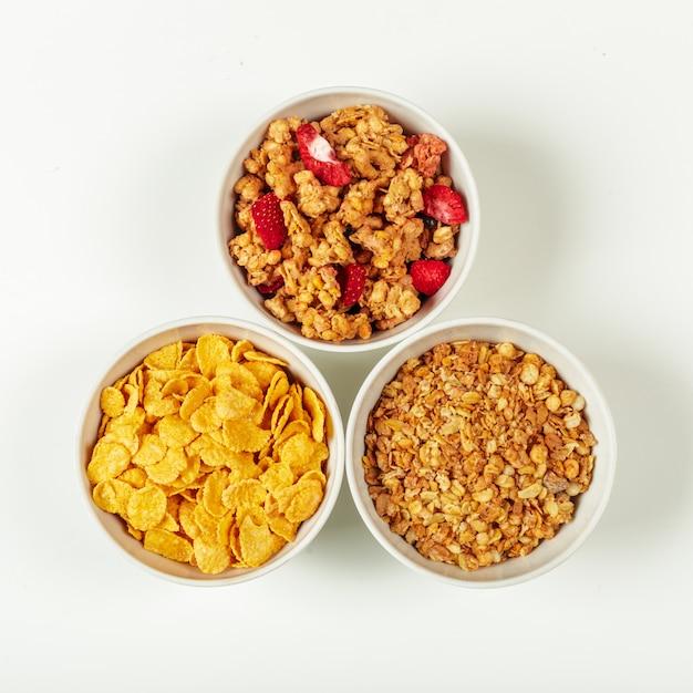 Ingrediënten voor gezonde voeding ontbijt Premium Foto