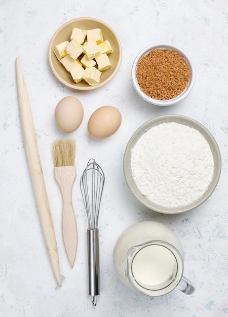 Ingrediënten voor het bakken Gratis Foto