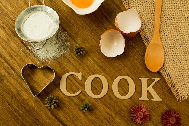 Ingrediënten voor koken Premium Foto
