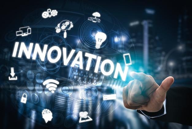 Innovatietechnologie voor bedrijfsfinanciënconcept Premium Foto