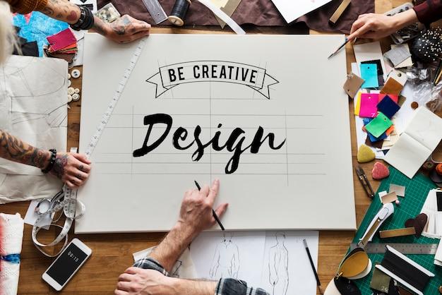 Inspiratie ideeën ontwerp creatief denken word Gratis Foto
